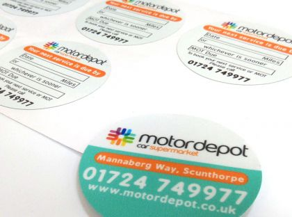 Printed White Surface Stickers, Clear Labels & Large Vinyls