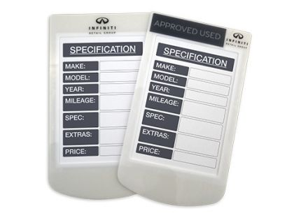 Specification Card Holders