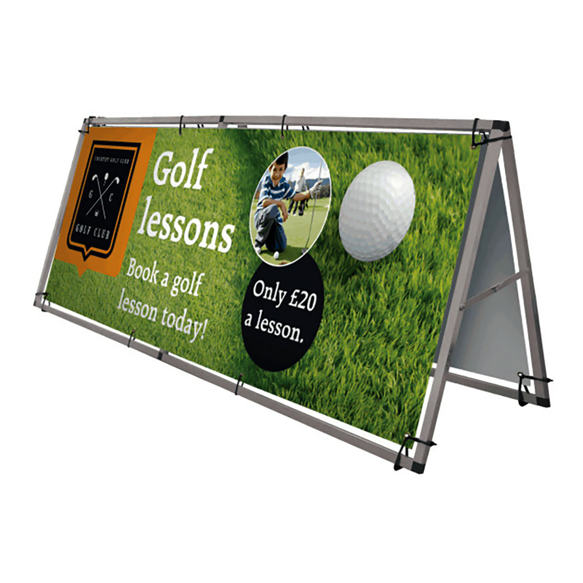 Outdoor Banner Frames With Optional Double Option