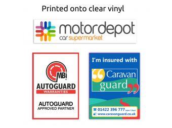 Printed Paper Car Floor Mats Promotional Car Valeting Mats