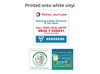 White Vinyl Surface Stickers