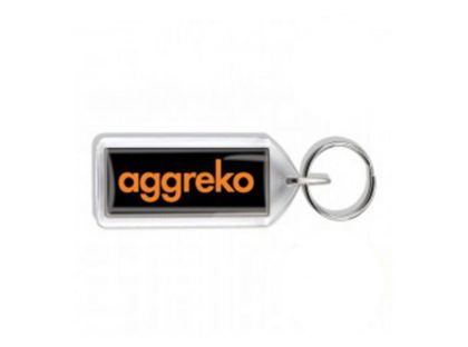 Cigar Shaped Acrylic Keyrings