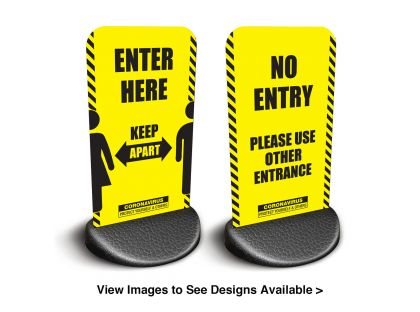 Ekoflex - Entry and No Entry Pavement Signs