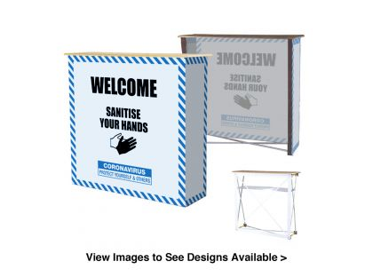 Large Hand Wash Station - Fabric Counter Stand