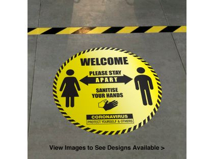 Protective Safety - Circular Floor Graphics (300mm dia)