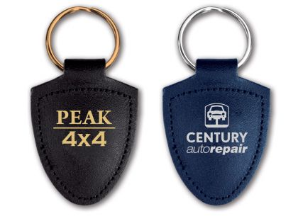 Shield Shaped Leather Keyrings