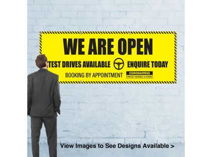 We Are Open - Banners