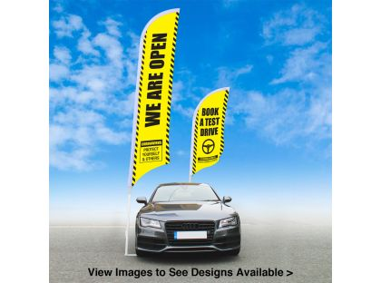 We Are Open / Test Drives - Heavy Duty Feather Flag Kits