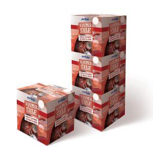 Prined Box Stacks - POS Cubes