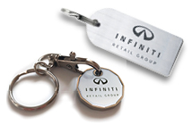 Steel & Trolley Token Key Rings